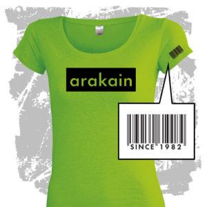 Dámské triko Arakain zelené