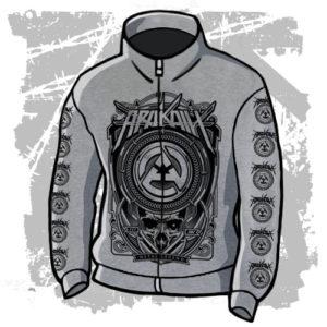 Mikina Metal Legend šedivá stojáček zip