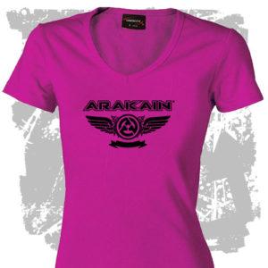 Dámské triko růžové Křídla